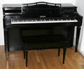 061179 BALDWIN EBONY SPINET PIANO  BENCH