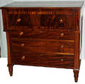 051134 AMERICAN EMPIRE CHERRY CHEST OF 4 DRAWERS