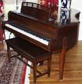 072105 CABLENELSON MAHOGANY BABY GRAND PIANO