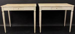 Pair of Stands wDistressed Painted Finish