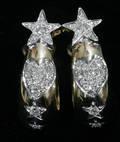 051147 GOLD  DIAMOND EARRINGS