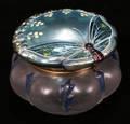 040168 IRIDESCENT ENAMEL DRESSER JAR
