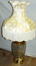 040156 CUT CRYSTAL  BRASS TABLE LAMP