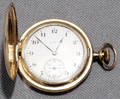 040131 ELGIN CLOSED FACE GOLD PLATE POCKET WATCH