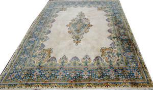 032067 KERMAN PERSIAN HANDWOVEN WOOL CARPET
