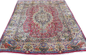 030091 MASHAD PERSIAN RUG 12 8 X 9 10