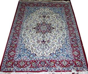 030089 ISFAHAN WOOL AND SILK PERSIAN RUG 5 7 X 3 7