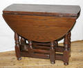 081204 ENGLISH WILLIAM  MARY STYLE OAK END TABLE