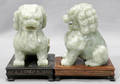 072149 CHINESE CARVED JADE SEATED FOO LIONS