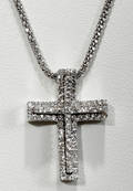 072139 GOLD CHAIN W DIAMOND CROSS