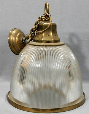 071242 SOLID BRASS  GLASS HANGING LIGHT FIXTURE