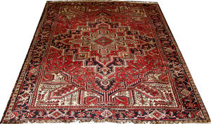 070083 HEREZ PERSIAN WOOL CARPET 7 3 X 10