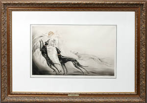 062109 LOUIS ICART DRYPOINT  ETCHING COURSING II