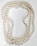 060174 CULTURED PEARL NECKLACE W GOLD CLASP