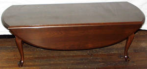 050111 QUEEN ANN STYLE MAHOGANY COFFEE TABLE