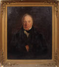 042172 AMERICAN OIL ON CANVAS PORTRAIT OF A GENTLEMAN