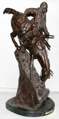 070139 BRONZE SCULPTURE MOUNTAIN MAN