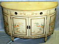 040242 IMPERIAL IVORY GLAZED FLORAL DESIGN COMMODE