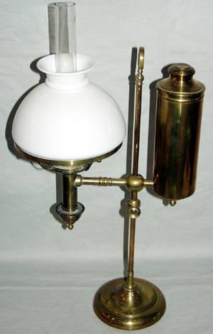 040216 OIL BURNING BRASS STUDENT LAMP