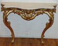 032152 LOUIS XV STYLE GILT CARVED WOOD CONSOLE