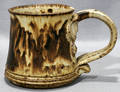 081282 POTTERY MUG W TAN  BROWN SPECKLED COLORING