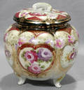 080221 NIPPON COVERED VASE W FIRED GOLD ACCENTS
