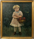 080198 OTTO OEHRKE OIL GIRL CARRYING BASKET