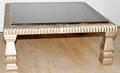 061310 GILT FRAME SQUARE COCKTAIL TABLE