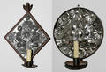 051266 AMERICAN PRIMITIVE STYLE TIN SCONCES