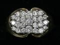 042261 14KT GOLD  DIAMOND RING W 25 DIAMONDS