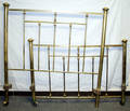 040286 TURN OF THE CENTURY BRASS BED W RAILS