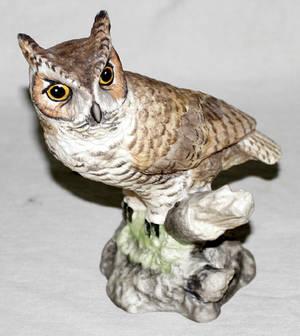 062230 BOEHM PORCELAIN HORNED OWL