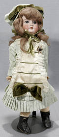 061378 GERMANY PORCELAIN HEAD DOLL JOINTED BODY