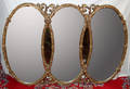 042300 3 GRACES STYLE GILT GESSO OVER WOOD WALL MIRROR