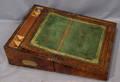 042292 ENGLISH WALNUT LAP DESK CIRCA 1840