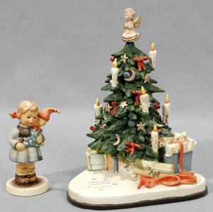 080301 GOEBEL MJ HUMMEL PORCELAIN MUSIC BOX  TREE