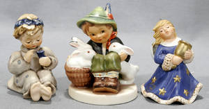 080299 GOEBEL MJ HUMMEL THREE PORCELAIN FIGURES
