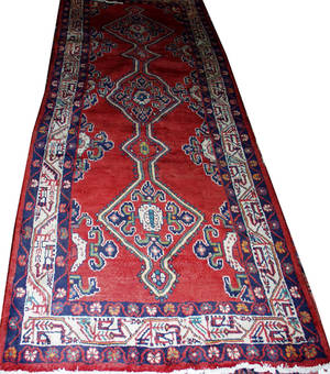 072287 BIJAR WOOL PERSIAN RUG 9 10 X 3 7