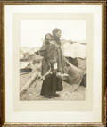 071411 LOMEN BROS FRAMED PHOTO OF ESKIMO WOMAN