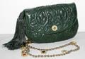 061401 JUDITH LEIBER GREEN LIZARD BAG