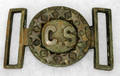 052264 CONFEDERATE BRASS BELT BUCKLE