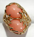052232 PINK CORAL RING