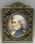 050295 MINIATURE OVAL PORTRAIT OF MOZART