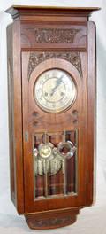 041396 GERMAN WALNUT WALL CLOCK
