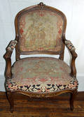 030311 FRENCH LOUIS XV WALNUT PARLOR CHAIR