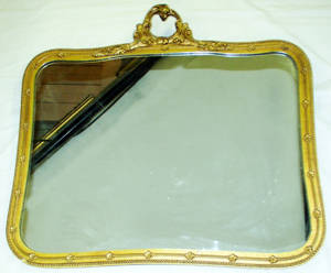 030309 FRENCH STYLE GILT WOOD MIRROR C1900