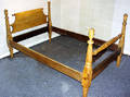 030285 AMERICAN ANTIQUE WALNUT TWIN SLEIGH BED