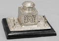 080341 SILVER PLATE PIERCED DESIGN INKWELL