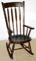 072328 HITCHCOCK ROCKING CHAIR W GILT HIGHLIGHTS