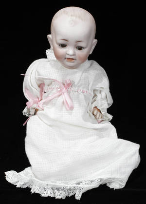 071445 GERMAN BISQUE  COMPOSITION BABY DOLL